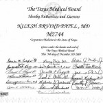 Dr. Nilesh Patel's Texas Medical Board License